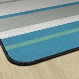 Contemporary Color Striped Classroom Rug - Edges
