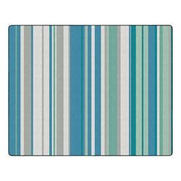 Contemporary Color Striped Classroom Rug