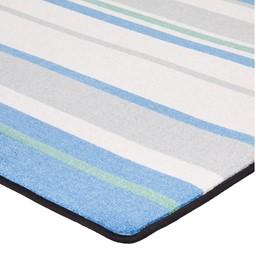 "Contemporary Color Striped Classroom Rug - Rectangle (6' W x 8' 4"" L) - Corner"