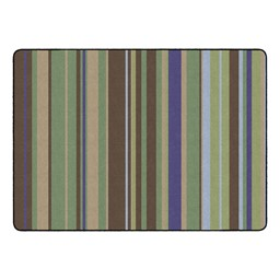 Natural Color Striped Classroom Rug