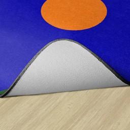 Primary Color Polka Dot Classroom Rug -- Backing