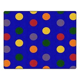 Primary Color Polka Dot Classroom Rug