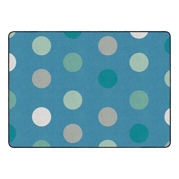 "Contemporary Color Polka Dot Classroom Rug - Rectangle (6' W x 8' 4"" L)"