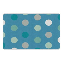 "Contemporary Color Polka Dot Classroom Rug - Rectangle (7\' 6\"" W x 12\' L)"