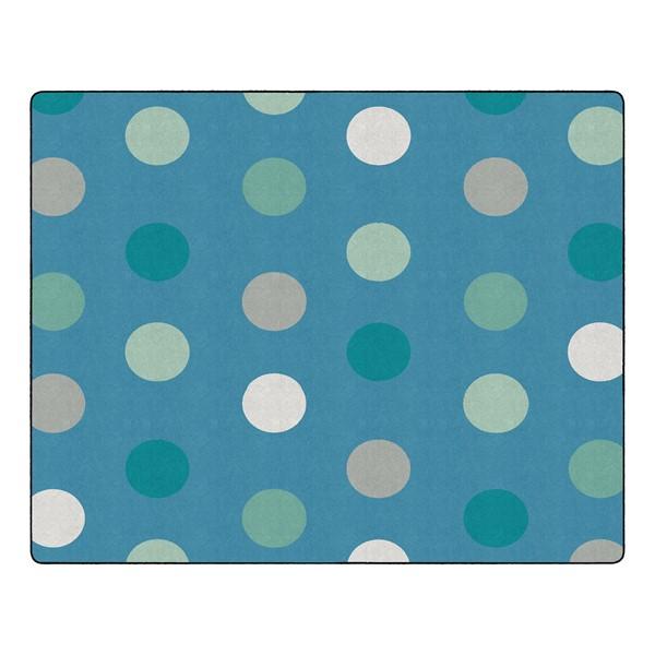"Contemporary Color Polka Dot Classroom Rug - Rectangle (10' 6"" W x 13' 2"" L)"