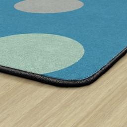 Contemporary Color Polka Dot Classroom Rug - Rectangle - Backing