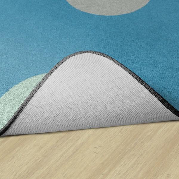 Contemporary Color Polka Dot Classroom Rug - Rectangle