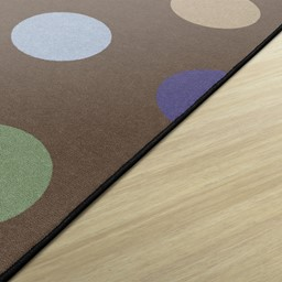 Natural Color Polka Dot Classroom Rug - Rectangle