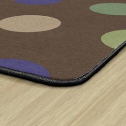 Natural Color Polka Dot Classroom Rug - Rectangle - Edges