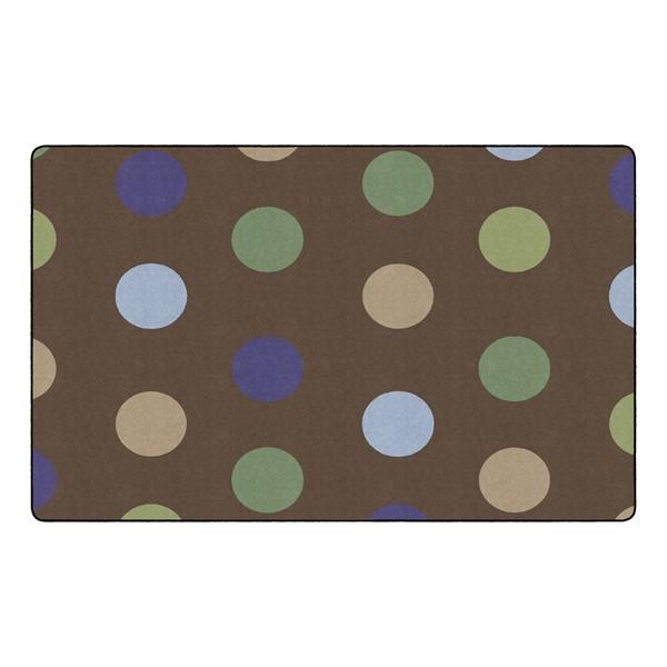 "Natural Color Polka Dot Classroom Rug - Rectangle (7' 6"" W x 12' L)"