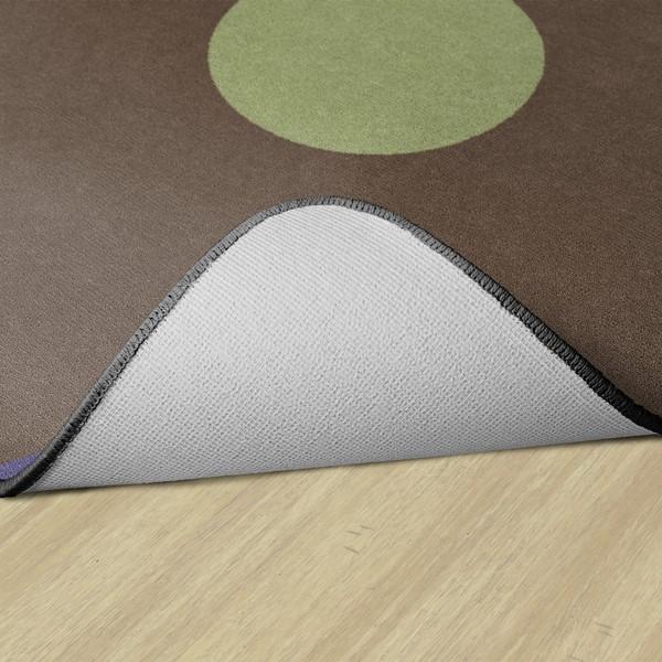 Natural Color Polka Dot Classroom Rug - Rectangle - Backing