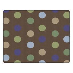 Natural Polka Dot Classroom Rug
