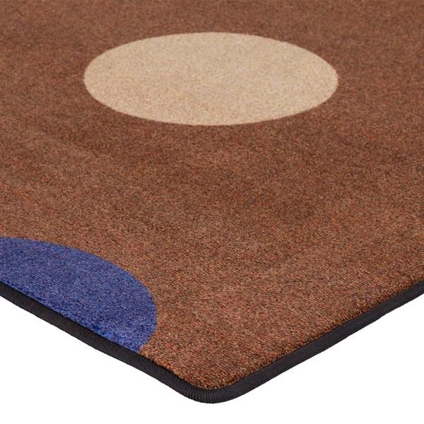 "Natural Color Polka Dot Classroom Rug - Rectangle (7' 6"" W x 12' L) - Corner"