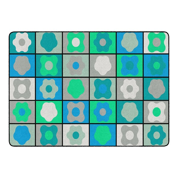 """Contemporary Color Cog Seating Classroom Rug - Rectangle (6' W x 8' 4"""" L)"""