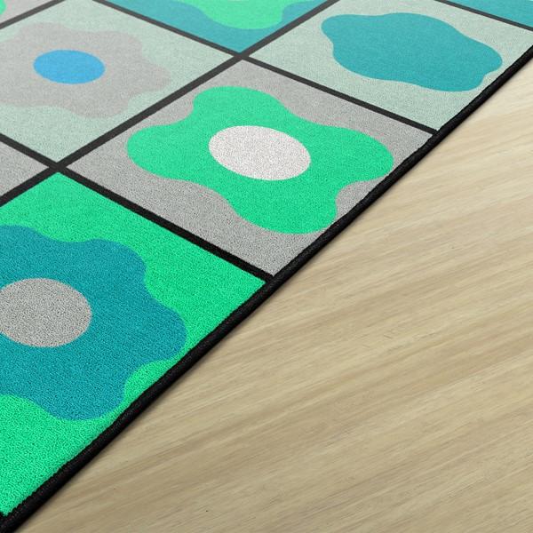 Contemporary Color Cog Seating Classroom Rug