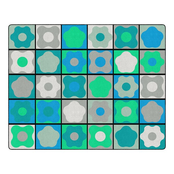 """Contemporary Color Cog Seating Classroom Rug - Rectangle (10' 6"""" W x 13' 2"""" L)"""