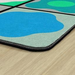 Contemporary Color Cog Seating Classroom Rug - Edges