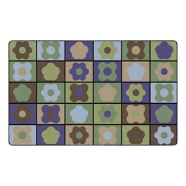 """Natural Color Cog Seating Classroom Rug - Rectangle (7\' 6\"""" W x 12\' L)"""