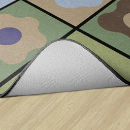 Natural Color Cog Seating Classroom Rug - Backing