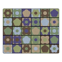 """Natural Color Cog Seating Classroom Rug - Rectangle (10\' 6\"""" W x 13\' 2\"""" L)"""