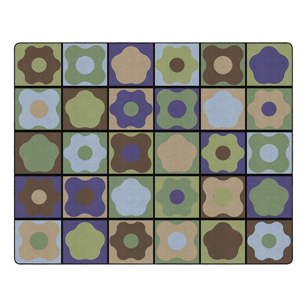 """Natural Color Cog Seating Classroom Rug - Rectangle (10' 6"""" W x 13' 2"""" L)"""