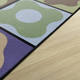 Natural Color Cog Seating Classroom Rug