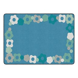 "Contemporary Color Cog Border Classroom Rug - Rectangle (6' W x 8' 4"" L)"