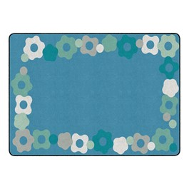 "Contemporary Color Cog Border Classroom Rug - Rectangle (6\' W x 8\' 4"" L)"