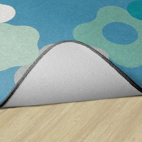Contemporary Color Cog Border Classroom Rug