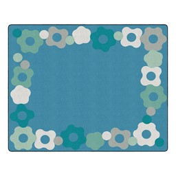 "Contemporary Color Cog Border Classroom Rug - Rectangle (10' 6"" W x 13' 2"" L)"