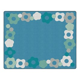 "Contemporary Color Cog Border Classroom Rug - Rectangle (10\' 6"" W x 13\' 2\"" L)"