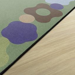 Natural Color Cog Border Classroom Rug