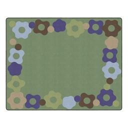 """Natural Color Cog Border Classroom Rug - Rectangle (10' 6"""" W x 13' 2"""" L)"""