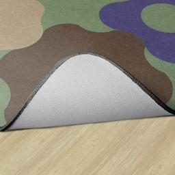 Natural Color Cog Border Classroom Rug - Backing