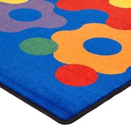 Primary Color Big Cogs Classroom Rug