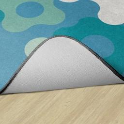 Contemporary Color Big Cogs Classroom Rug