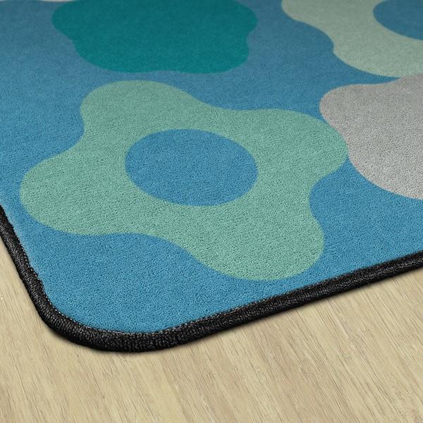 Contemporary Color Big Cogs Classroom Rug - Backing