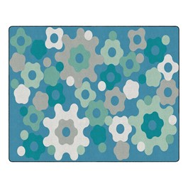"Contemporary Color Big Cogs Classroom Rug - Rectangle (10\' 6\"" W x 13\' 2\"" L)"
