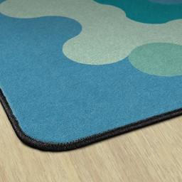 Contemporary Color Big Cogs Classroom Rug - Edges