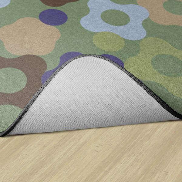 Natural Color Big Cogs Classroom Rug - Backing