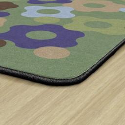 Natural Color Big Cogs Classroom Rug - Edges