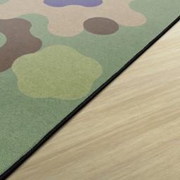 Primary Color Cog Border Classroom Rug