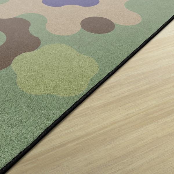 Natural Color Big Cogs Classroom Rug