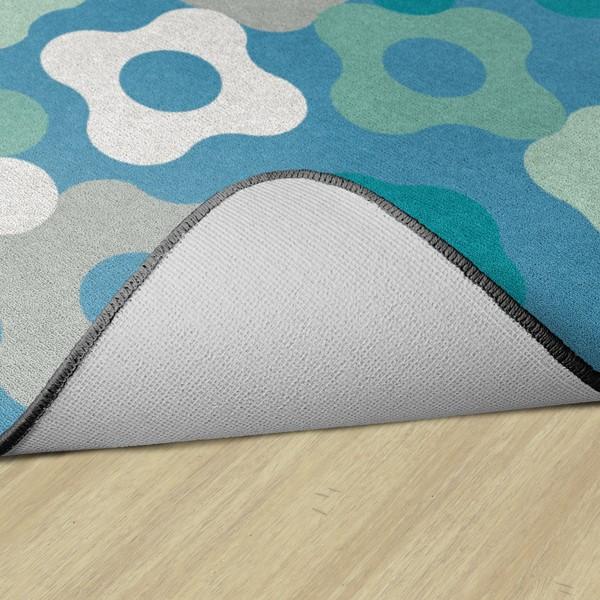 Contemporary Color Cog Classroom Rug