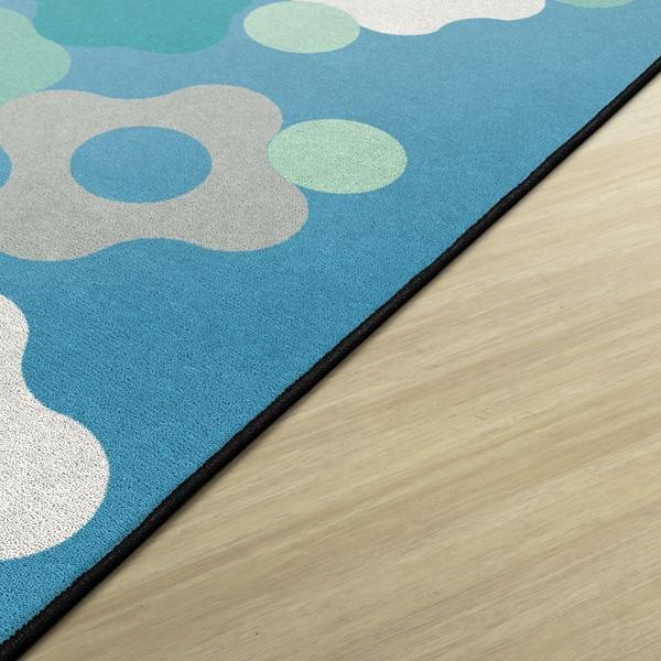Contemporary Color Cog Classroom Rug - Edges