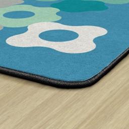 Contemporary Color Cog Classroom Rug - Backing