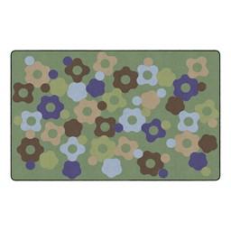 Natural Color Cog Classroom Rug