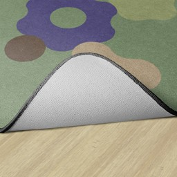 Natural Color Cog Classroom Rug - Backing