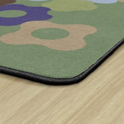 Natural Color Cog Classroom Rug - Edges