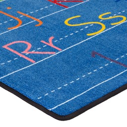 Primary Color Handwriting Classroom Rug